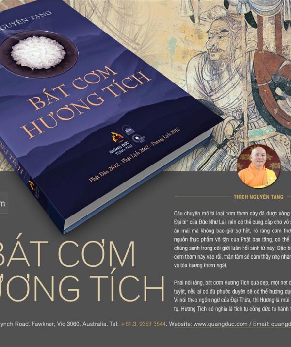 """Bài viết, tiểu luận, truyện ngắn - Đọc """"Bát Cơm Hương Tích"""" của TT Thích Nguyên Tạng"""