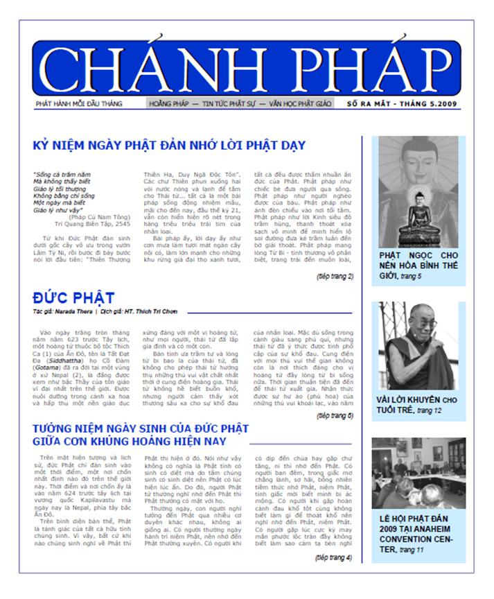 Nguyệt san Chánh Pháp số 1 - Bộ Cũ - Nguyệt san Chánh Pháp số 1 - Bộ Cũ