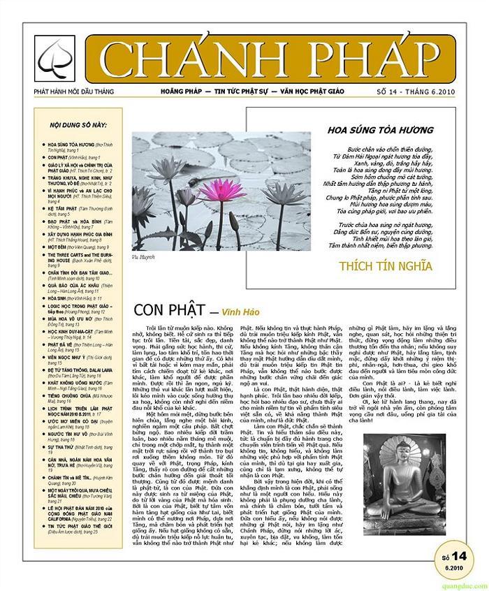 Nguyệt san Chánh Pháp số 14 - Nguyệt san Chánh Pháp số 14