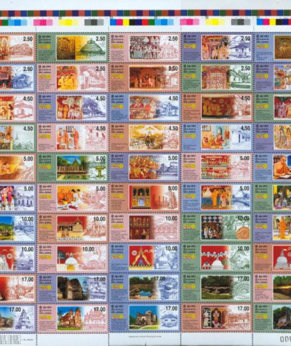 Bài viết, tiểu luận, truyện ngắn - Bộ tem kỷ lục 50 mẫu về lịch sử Phật giáo Sri Lanka