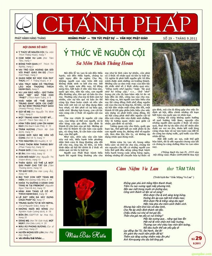 Nguyệt san Chánh Pháp số 29 - Nguyệt san Chánh Pháp số 29