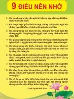 Chín điều nên nhớ trong cuộc sống